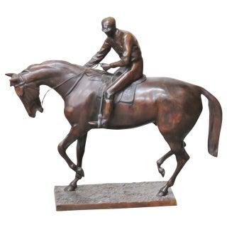 Isidore Jules Bonheur Style Horse & Jockey Bronze Statue