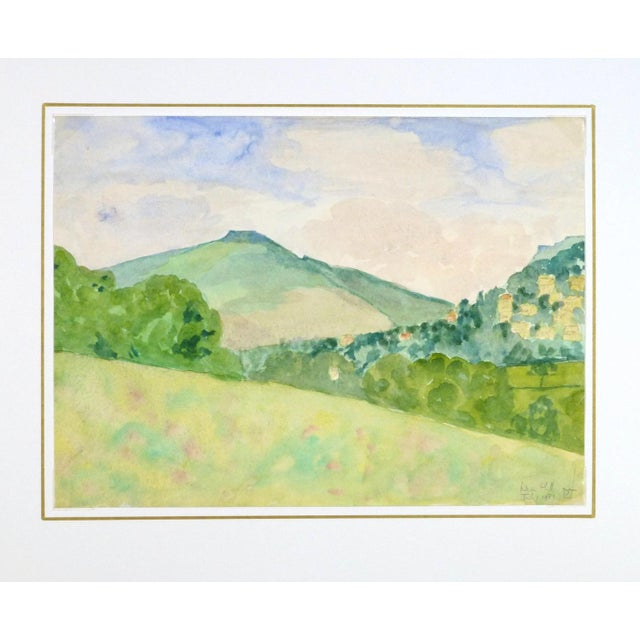 "English Watercolor Painting, ""Nun Hill"" - Image 3 of 3"