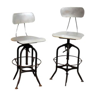 Pair of Metal Reproduction Stools