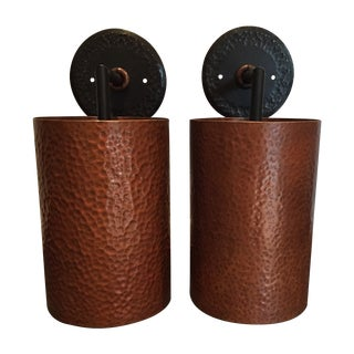 Hammered Copper Sconces - A Pair
