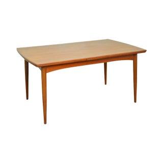 Danish Modern Teak Dining Table w/ Sliding Leaves by Gudme Mobelfabrik