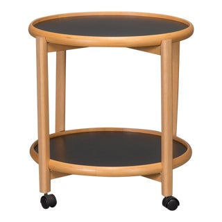 Two-Tier Reversible Top Beech & Laminate Side Table