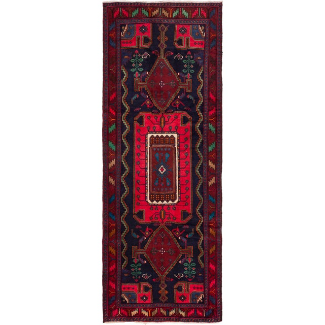 "Hamadan Vintage Persian Rug - 4'1"" X 11'2"" - Image 1 of 2"