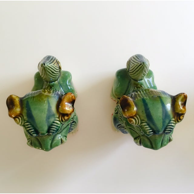 Ceramic Foo Dog Figurines - Pair - Image 4 of 10