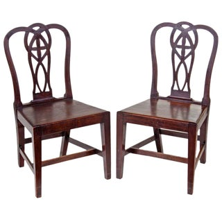 18th Century English Mahogany Chippendale Chairs - A Pair