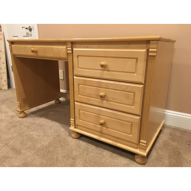 Maple Wood & Birch Desk - Image 5 of 5