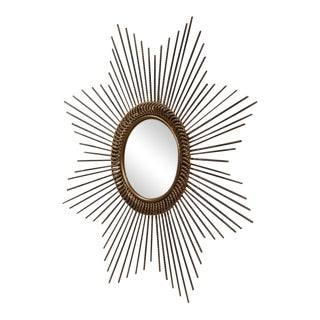 Early 20th Century French Sunburst Mirror With Antique Bronze Finish