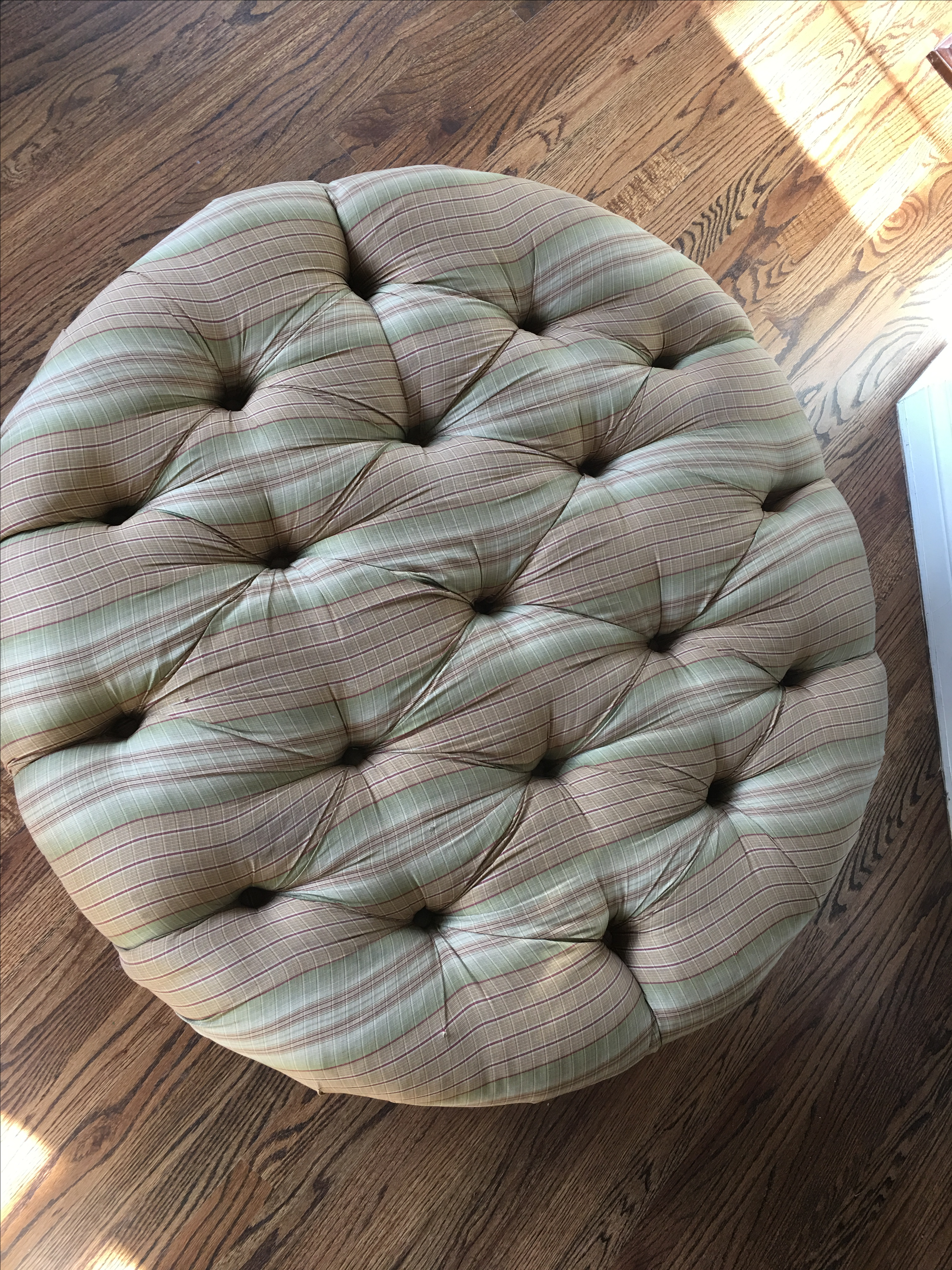 Large Plunkett Furniture Pinched Ottoman Footrest Pouf Tuffet   Image 3 Of  11