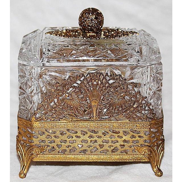 Hollywood Regency Glass Vanity Box - Image 3 of 7