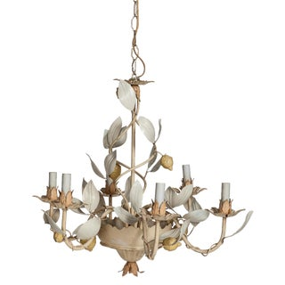 Italian Lemon Tole Chandelier