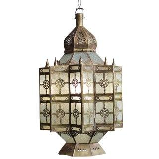 Moroccan Brass & Glass Lantern