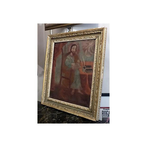 Image of Medieval Scholar Antique Painting