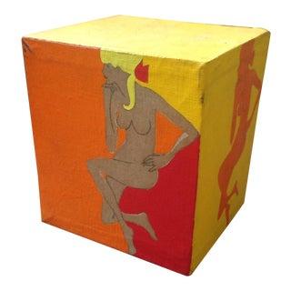 Pop Art Cube Canvas Figural Sketch Painting