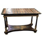 Image of Antique Italian Pis Dura Entry Console Table