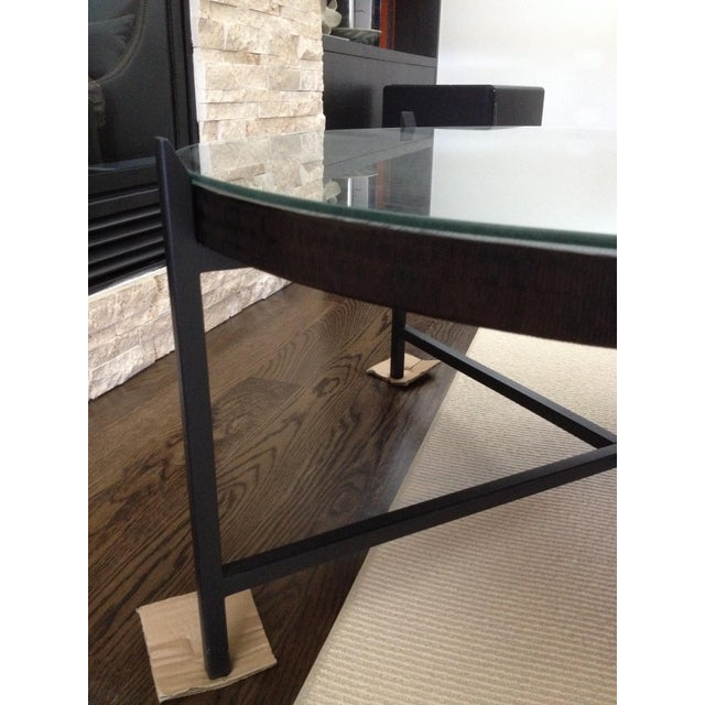 Modern Crate & Barrel Copper & Metal Coffee Table - Image 9 of 10