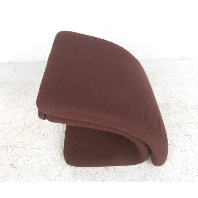 Contemporary Modern Sculptural Lounge Chair with Ottoman - Image 10 of 11