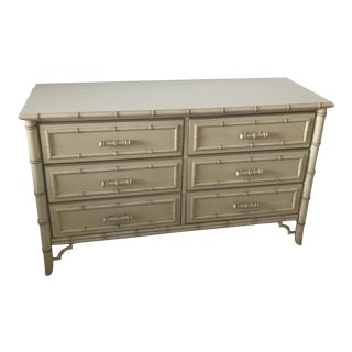 Hollywood Regency Faux Bamboo Double Dresser