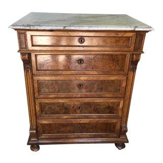 Victorian Marble Burl Wood Dresser
