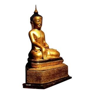 Burmese Gilt Dry Lacquer Buddha