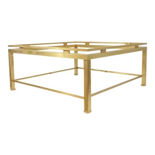 Handsome Brass and Glass Coffee Table by Guy Lefèvre for Maison Jansen