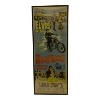 "Vintage Movie Poster ""Roustabout"" Signed by Elvis Presley Circa 1964"