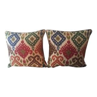 Ryan Studio Ikat Throw Pillows - Pair