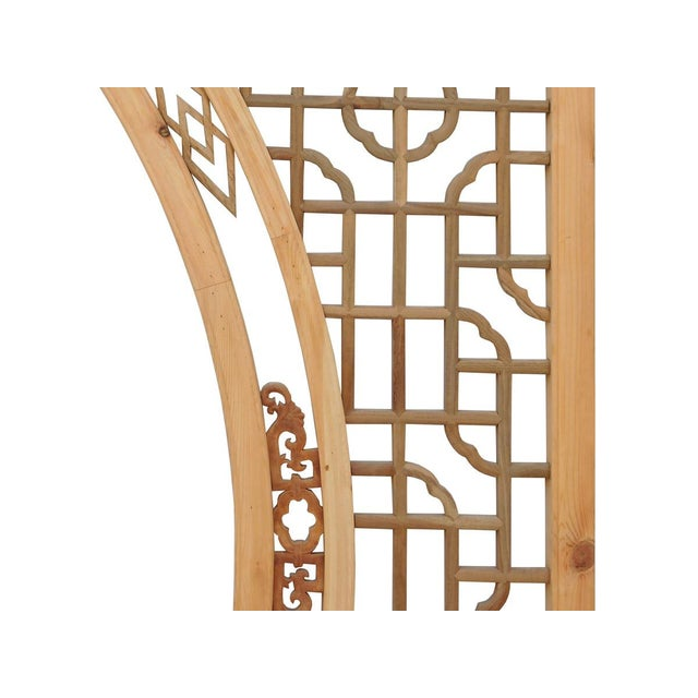 Chinese Arch-Shaped Wooden Panels - Set of 3 - Image 6 of 9