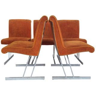 1970s Chrome Dining Chairs - Set of 5
