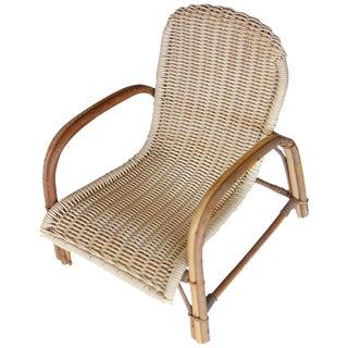 Wicker Lounge Chair Miniature Model