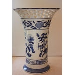 Image of Blue & White Pierced Vase