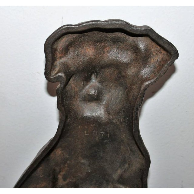 Monumental 19Thc Cast Iron Dog - Image 2 of 5