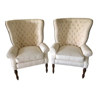 Cavalier English Wingback Chairs - A Pair