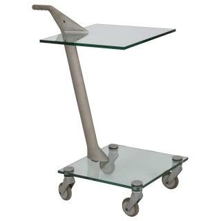 Fontana Arte Industrial Two-Tier Rolling Table