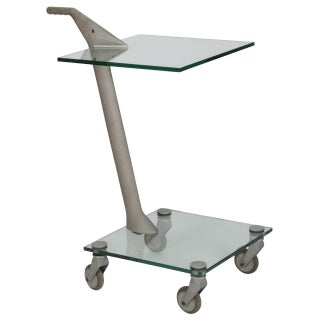Fontana Arte Industrial Two-Tier Rolling Table