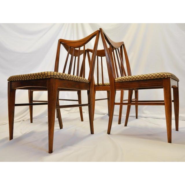 Mid Century Danish Walnut Dining Chairs By Keller Furniture S 4 Chairish