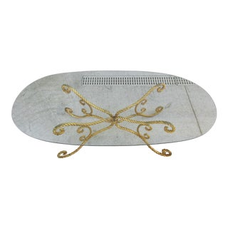 Italian Hollywood Regency Style Gilded Rope Coffee Table