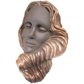 Mermaid Face Sculpture