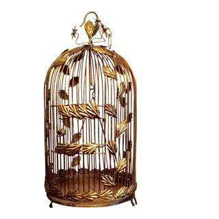 Vintage Italian Gilt Florentine Birdcage