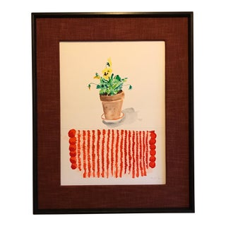 Pansies With Striped Matt Painting