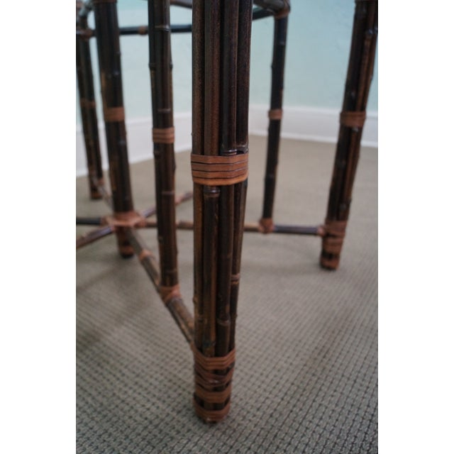 McGuire Rattan Dining Table - Image 6 of 10