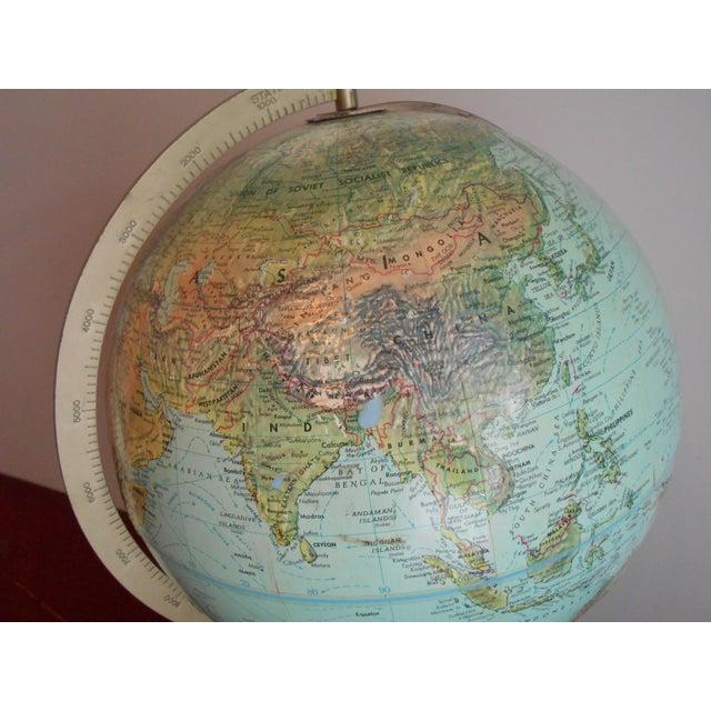 Mid-Century Relief Globe - Image 8 of 8