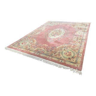 Vintage Aubusson Chinese Area Rug - 9' X 12'