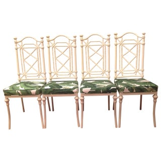 Faux Bamboo Metal Chairs by Kessler - Set of 4