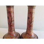 Image of Midcentury Cloisonne Lamps - A Pair