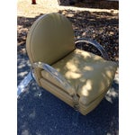 Image of Charles Hollis Jones Style Leather & Lucite Chair