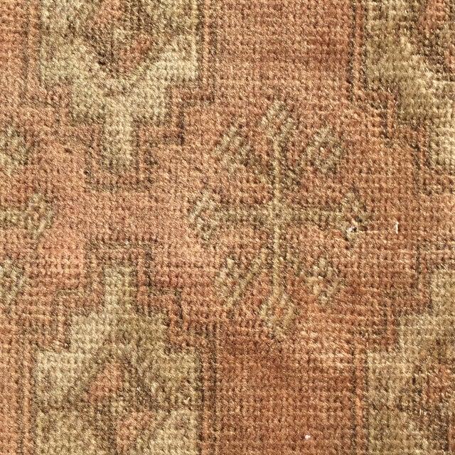 "Vintage Turkaman Brown Persian Rug - 2' x 2'11"" - Image 8 of 8"