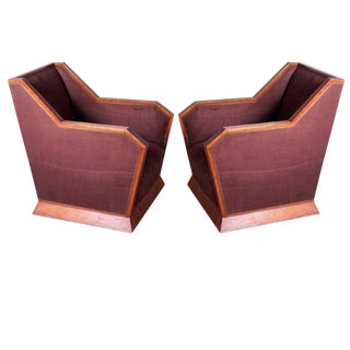 La Maitrise Cubist Pair of Club Chairs