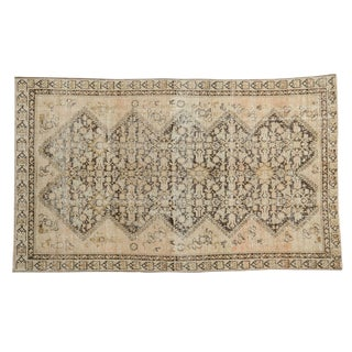 "Antique Distressed Malayer Rug - 3'7"" x 6'"