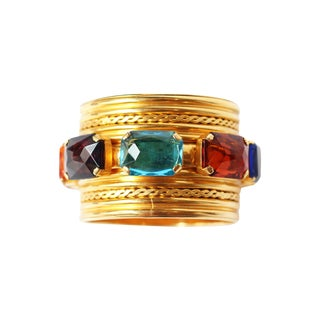 Gold & Colored Stone Bracelet by Carlo Zini
