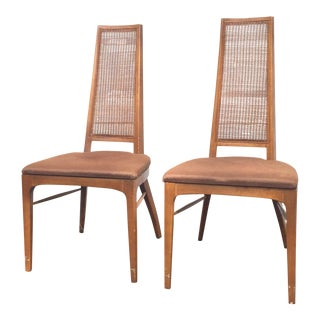 Mid-Century Modern Walnut Dining Chairs - A Pair